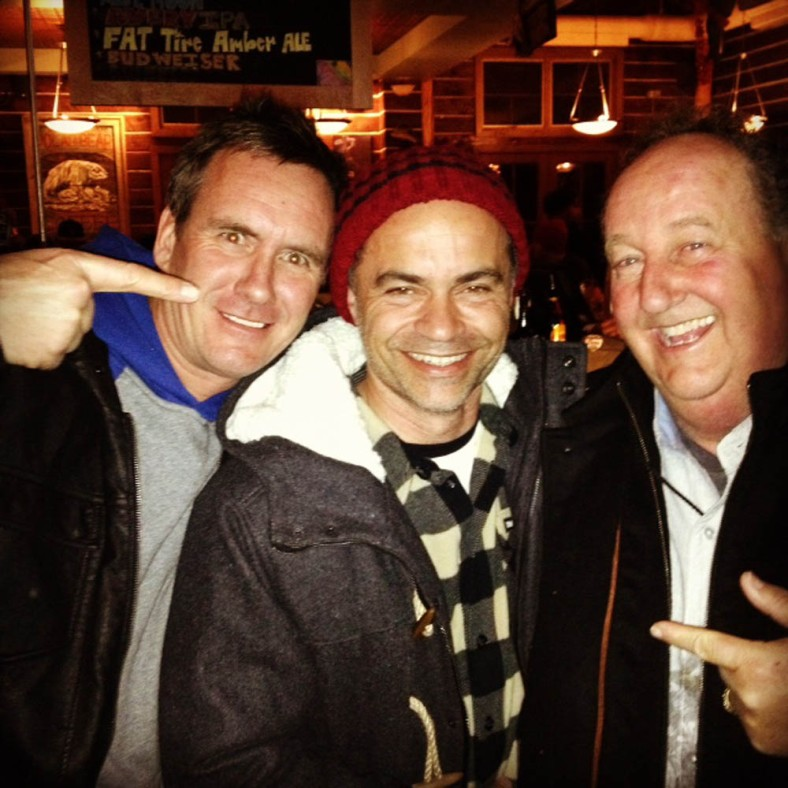 It is amazing seeing these guys togehther: Don, Pierre André and Paul Van Doren (Vans owner)