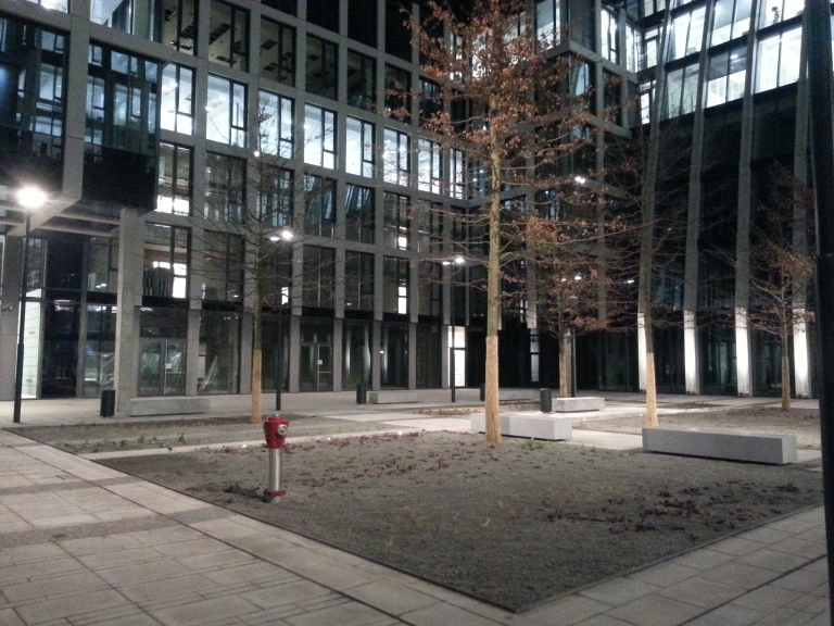 The Product of Boardom - Spot searchlight Praha Florentinum