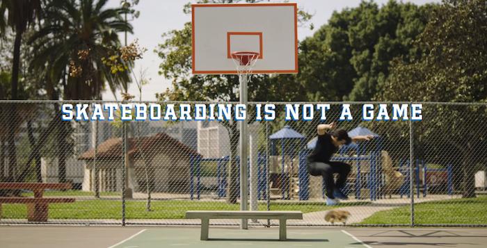 skateboarding is not