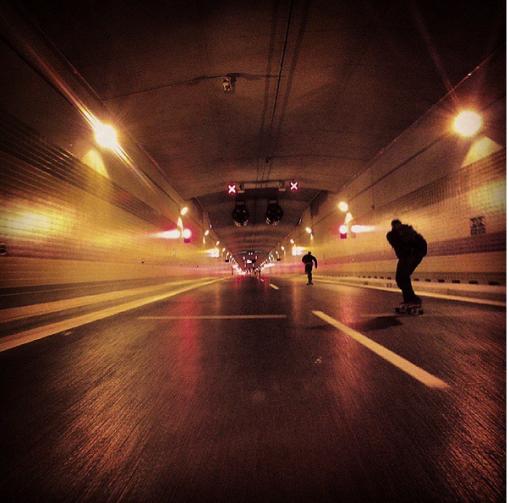 Projet si tunel Blanka před otevřením byla loni povinnost každýho skatera