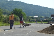 Žima (Trebadrec) a stavbyvedoucí- skatepark Margecany