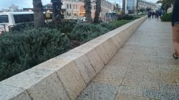Jeruzalém - zkosená zídka kdesi